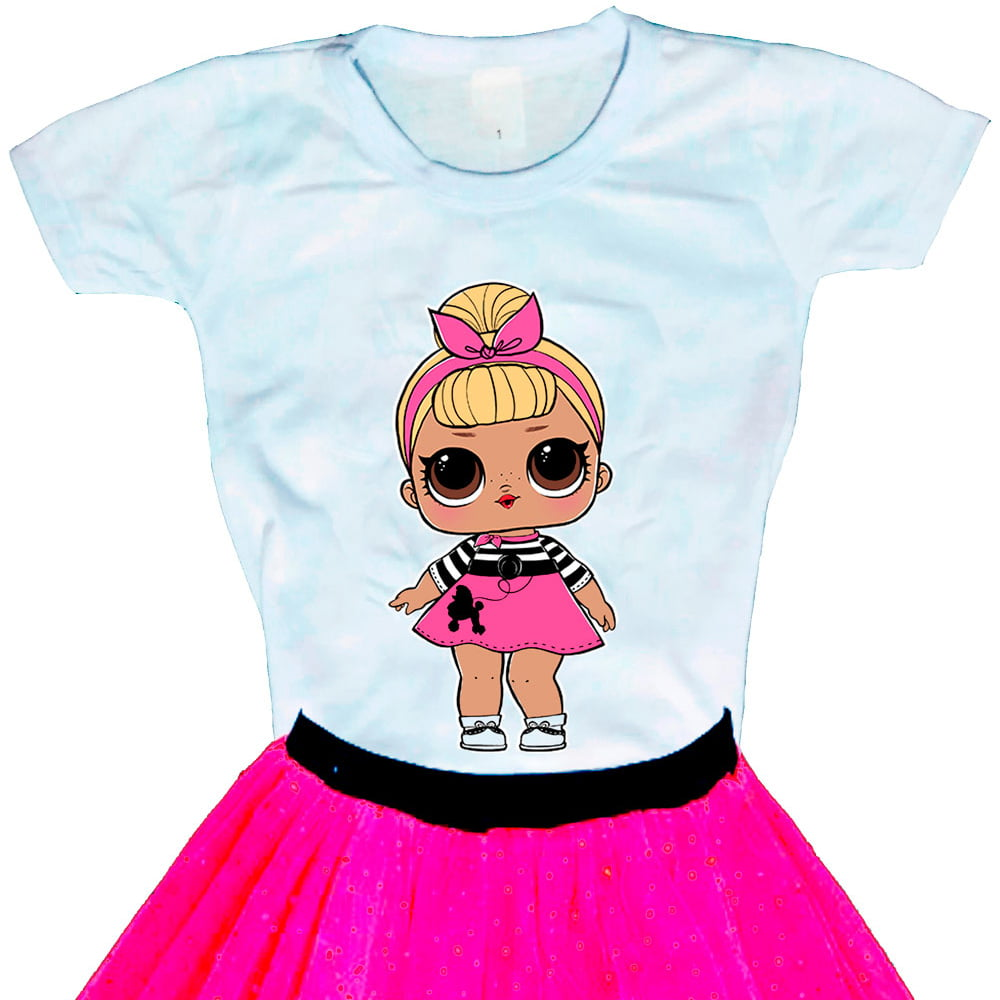 Camiseta Boneca Lol Surprise Sis Swing