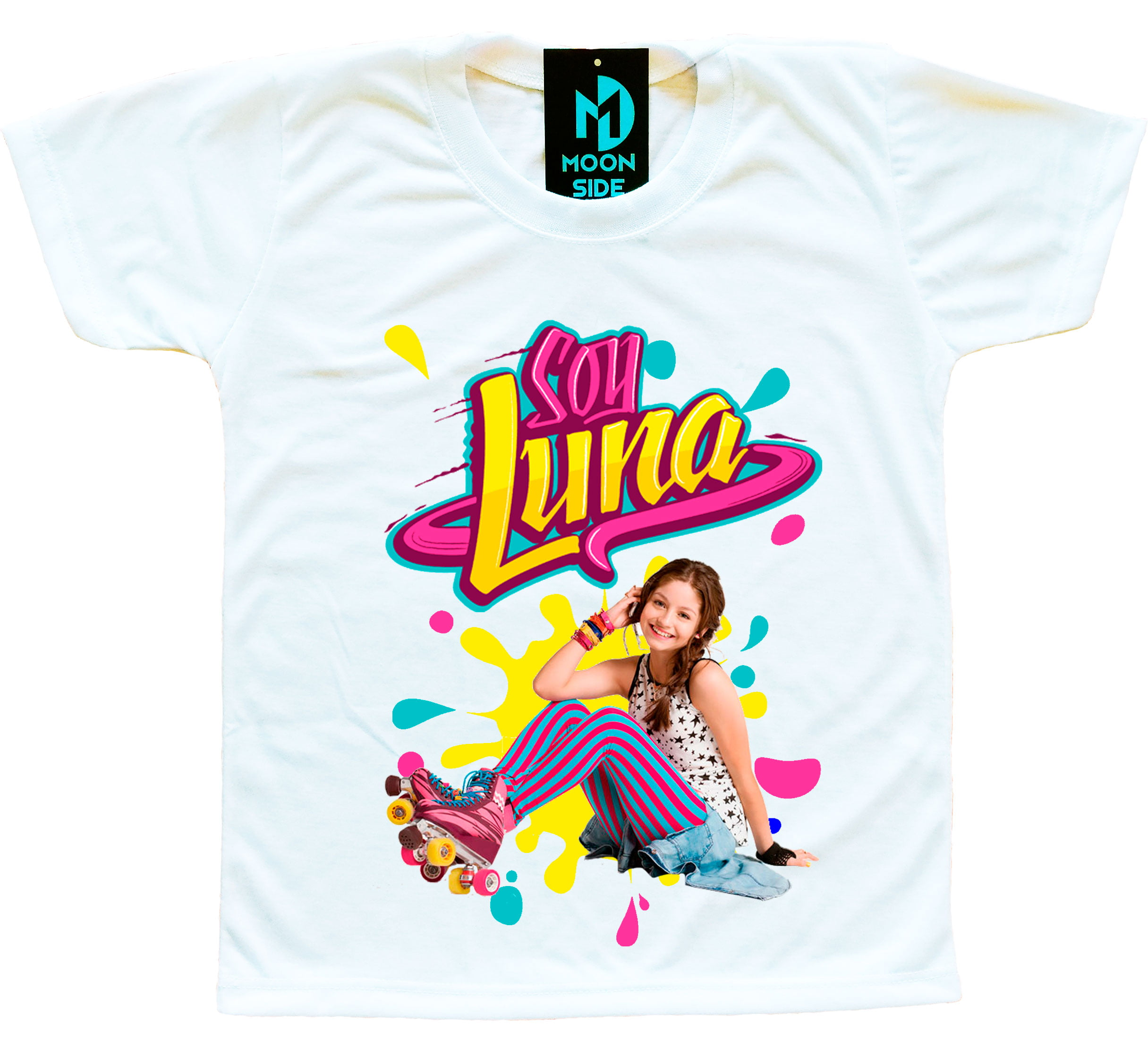Camiseta Sou Luna - Luna Patinadora Colorida