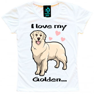 Camiseta Love My Pet  - Golden Retriever