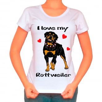 Camisetas Love My Pet - Rottweiler