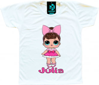 Camiseta Boneca Lol Surprise Fancy - Série Glitter - Personalizada