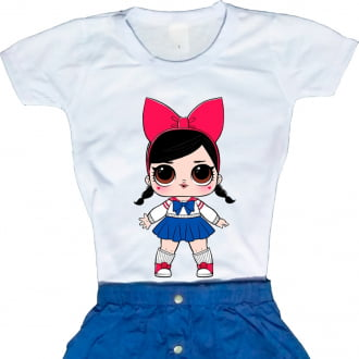 Camiseta Boneca Lol Surprise Fanime