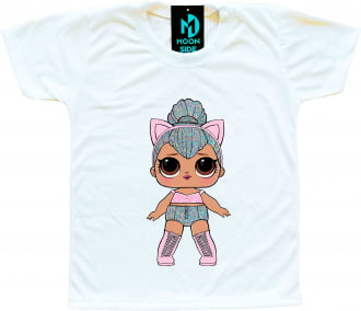 Camiseta Boneca Lol Surprise Kitty Queen