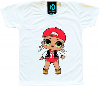 Camiseta Boneca Lol Surprise M.C. Swag