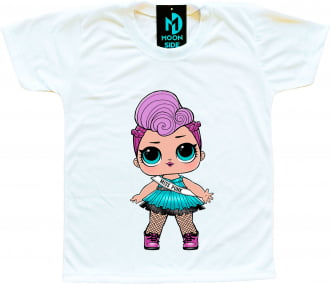 Camiseta Boneca Lol Surprise Miss Punk