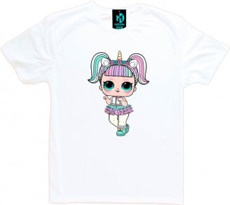 Camiseta Boneca Lol Surprise Unicorn (Unicórnio) - Adulto