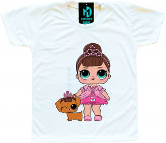 Camiseta Lol Surprise Fancy e Pet Fancy Haute Dog
